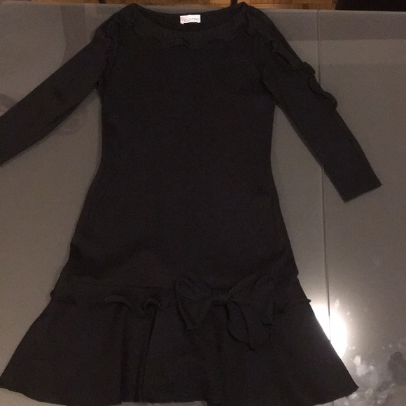 Red Valentino Dresses Long Sleeved Black Dress With Bow Poshmark